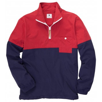 Dock Pullover - Madras Red/Navy